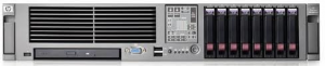 Der DL380 G5, ein Standardgerät unter den 2HE Servern